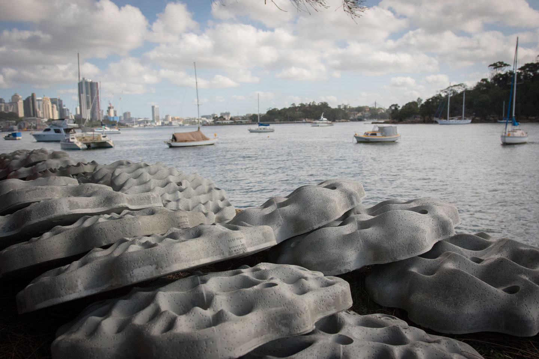 Living Seawalls concrete modules by SVC Urban