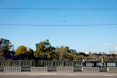 Pedestrian safety bollards on Princes Bridge in Melbourne | SVC Products