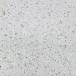Concrete swatch featuring a white quartz aggregate