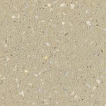 Creamy brown concrete swatch featuring white quartz aggregates