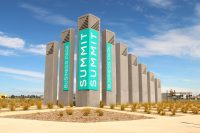Summit Business Park concrete signage pillars by SVC Urban.